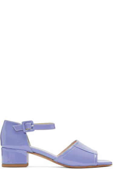Maryam Nassir Zadeh - Purple Patent Leather Alexandra Sandals