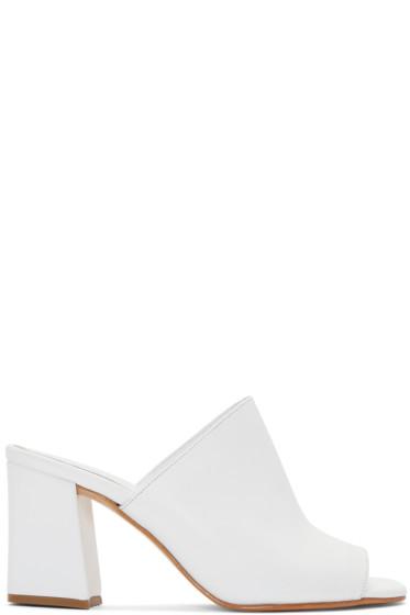Maryam Nassir Zadeh - White Penelope Slide Sandals