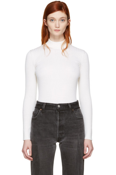 Courrèges - White Classic High Neck Pullover