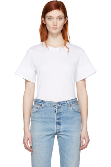 Courrèges - White Crewneck T-Shirt