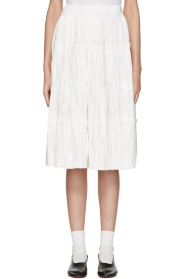 Sara Lanzi - Off-White Panel Skirt