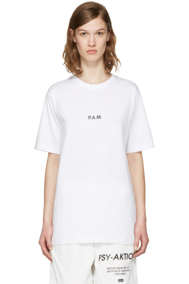 Perks and Mini - ホワイト ロゴ T シャツ