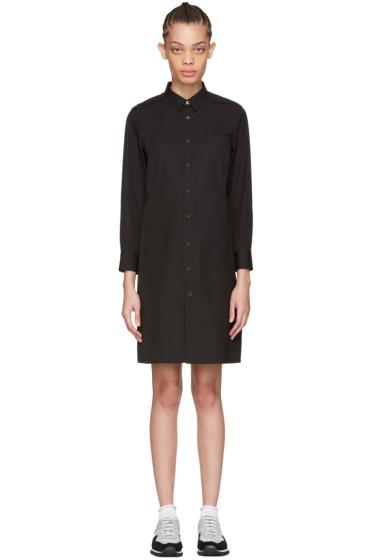 Tricot Comme des Garçons - Black Poplin Shirt Dress