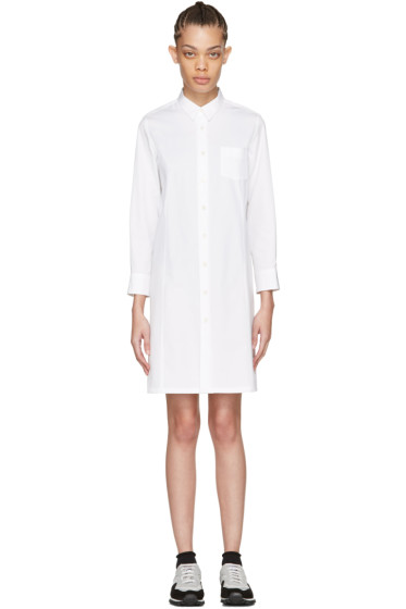 Tricot Comme des Garçons - White Poplin Shirt Dress