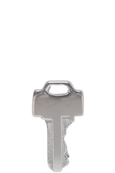 Lauren Klassen - White Gold Tiny Key Earring