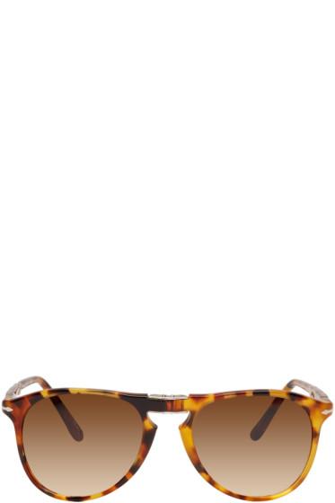 Persol - Tortoiseshell Folding Sunglasses