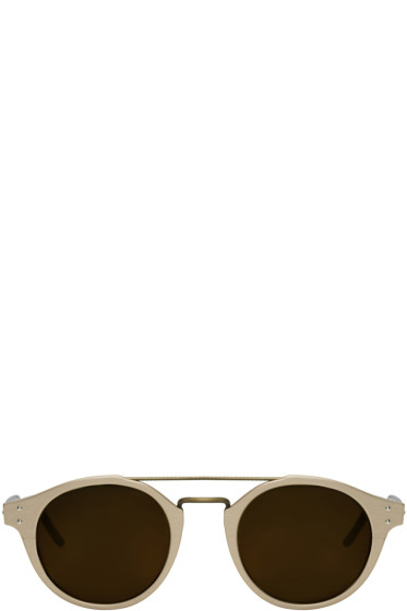 Bottega Veneta - Gold Retro Pantos Sunglasses