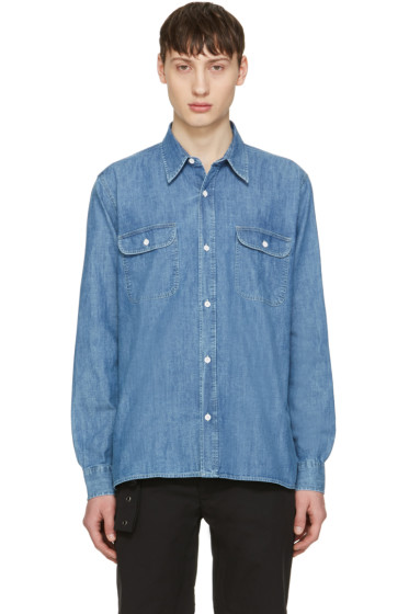 Our Legacy - Blue Denim Rinse Wash Shirt