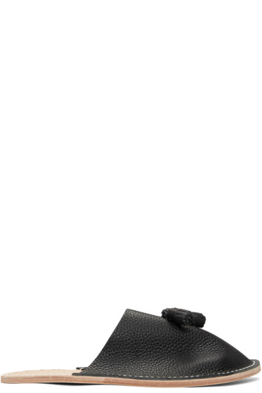 Hender Scheme - ブラック タッセル スリッパ フラット