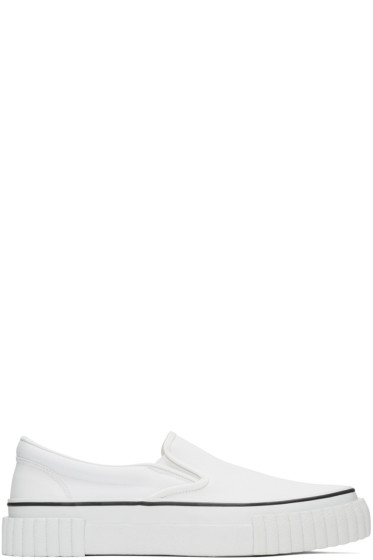 Ganryu - White Canvas Slip-On Sneakers