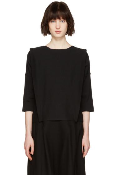 Issey Miyake - Black Panel Pullover