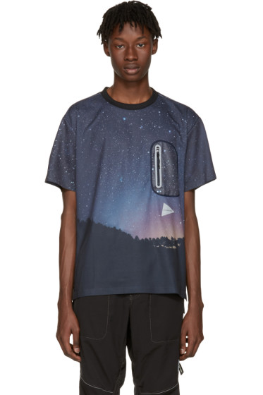 and Wander - Navy Starlit Sky Seamless T-Shirt