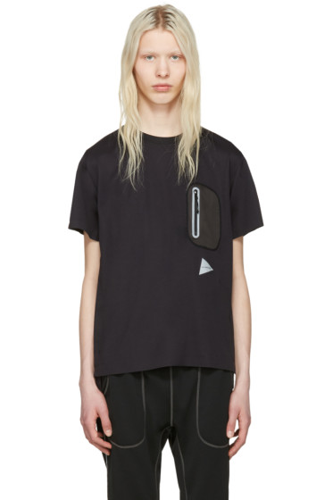and Wander - Black Seamless T-Shirt