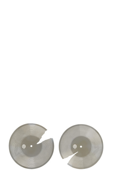 Ambush - Silver SSS Record Earrings