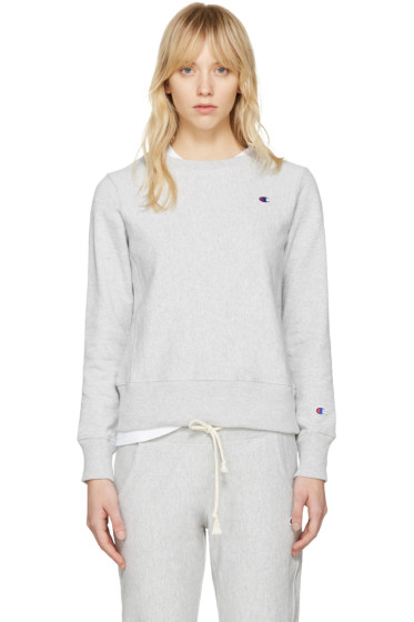 Champion Reverse Weave - Grey Logo Patch Pullover