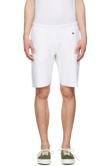Champion Reverse Weave - White Warm Up Shorts