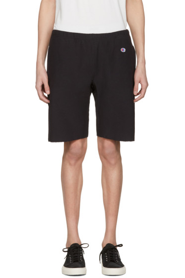 Champion Reverse Weave - Black Warm Up Shorts