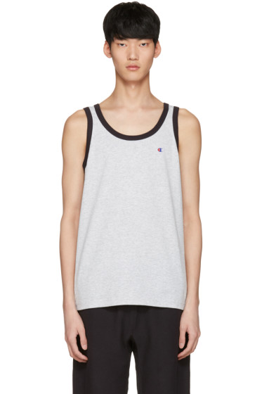 Champion Reverse Weave - Grey Logo Tank Top