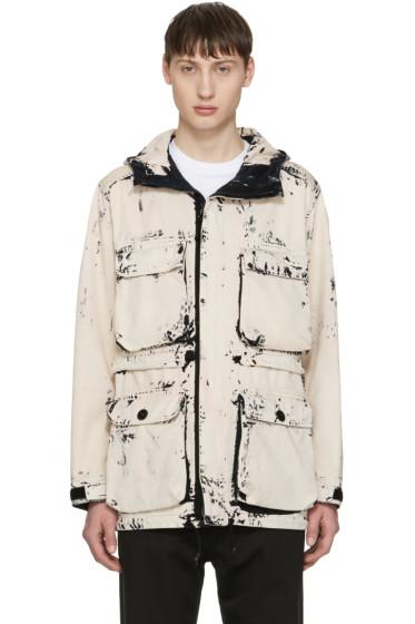 Stone Island - Ecru Hand Corosion On Raso Jacket