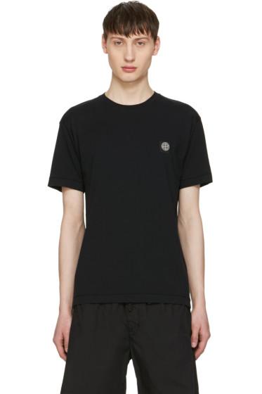 Stone Island - Black Embroidered Logo T-Shirt