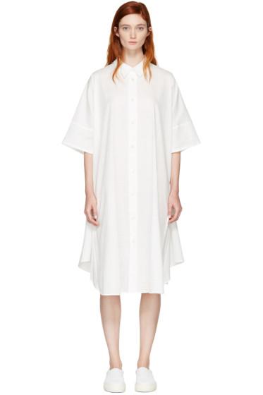 Nocturne #22 - ホワイト サークル シャツ ドレス
