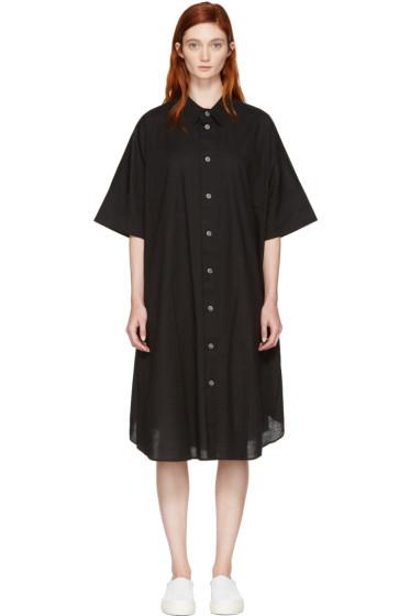 Nocturne #22 - Black Circle Shirt Dress