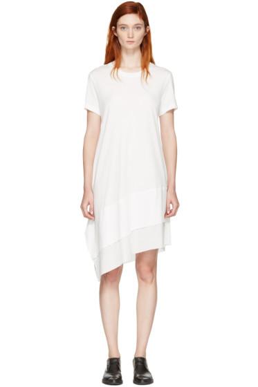 Nocturne #22 - Off-White Asymmetric T-Shirt Dress