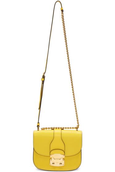 Miu Miu - Yellow Classic Lock & Chain Bag