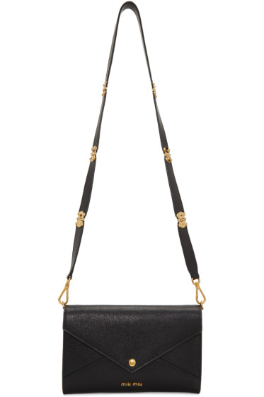 Miu Miu - Black Leather Envelope Shoulder Bag