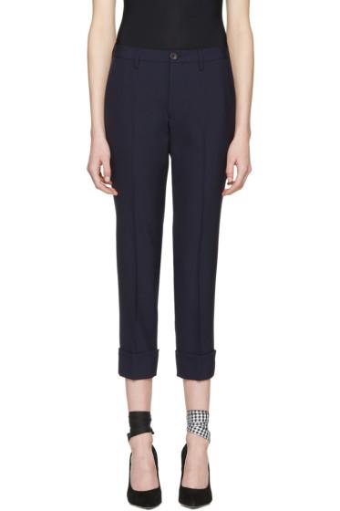 Miu Miu - Navy Wool Trousers