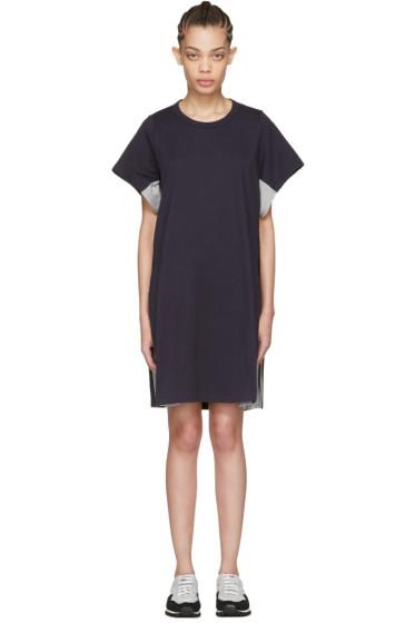 Harikae  - Navy Lace T-Shirt Dress