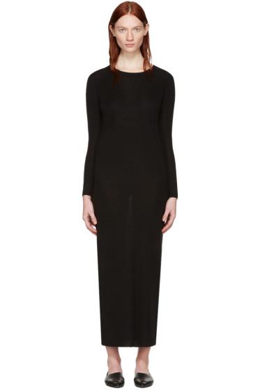 Wendelborn - ブラック ロング クルー ドレス
