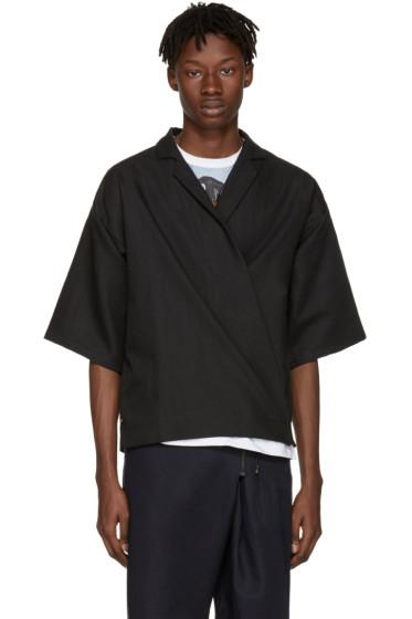 Bless - ブラック キモサッコ シャツ