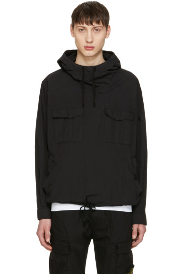 Stone Island Shadow Project - Black Hooded Pullover Jacket
