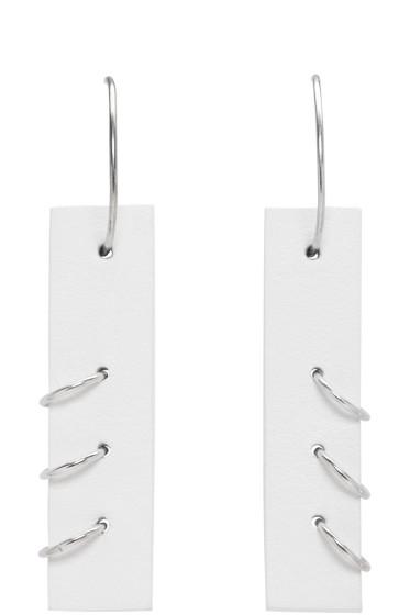Ribeyron - White Medium Pierced Earrings