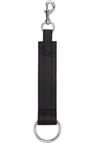 Ribeyron - SSENSE Exclusive Black Leather Ring Choker