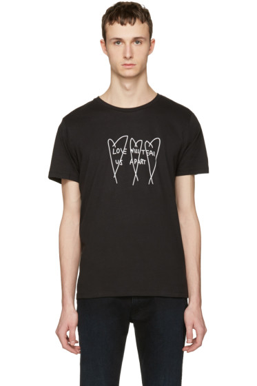 Nasaseasons - Black 'Love Will Tear Us Apart' T-Shirt