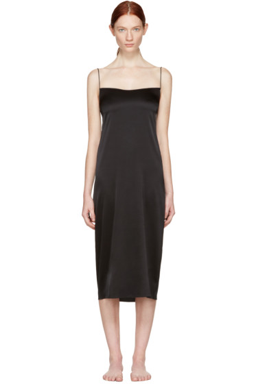 Land of Women - Black Circle Slip Dress
