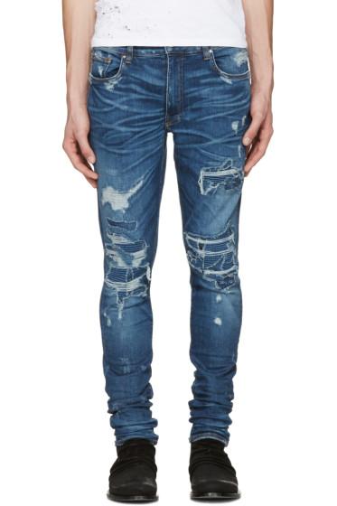 Amiri - Indigo Skinny MX1 Patch Jeans
