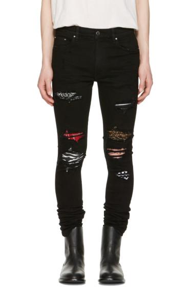 Amiri - Black Art Patch Skinny Jeans