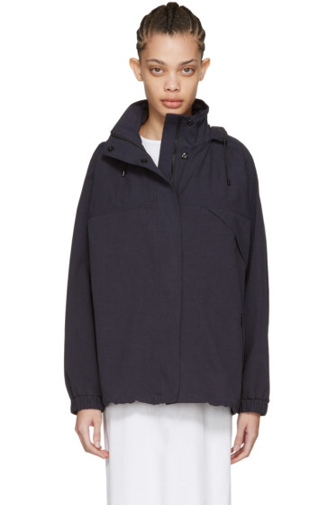 Moderne - Navy Cotton Trench Jacket