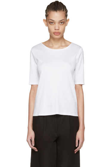 Moderne - White Fine Rib T-Shirt