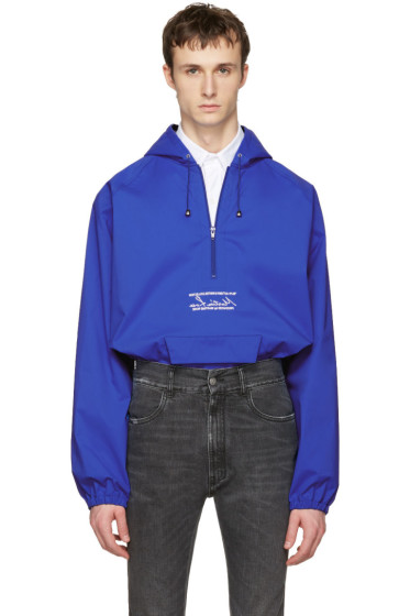 Martine Rose - Blue Windcheater Hooded Jacket