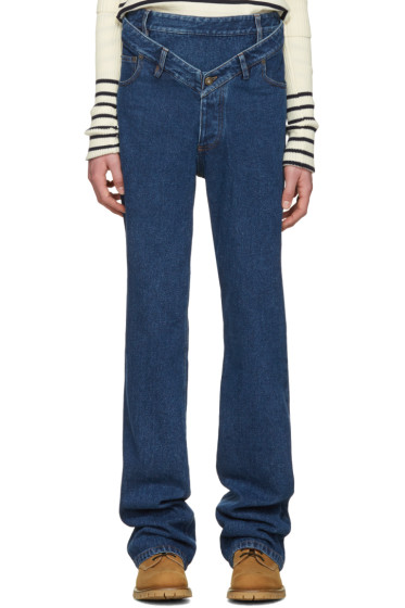Y/Project - Navy Layered Jeans
