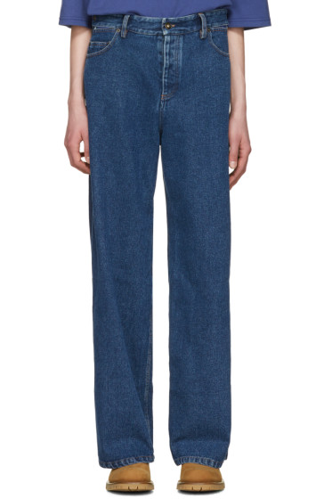 Y/Project - Navy Wide-Leg Jeans