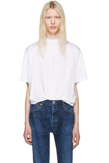 Y/Project - White 'Y' Detail T-Shirt