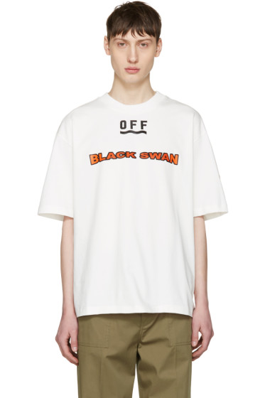 Moncler O - White 'Black Swan' T-Shirt