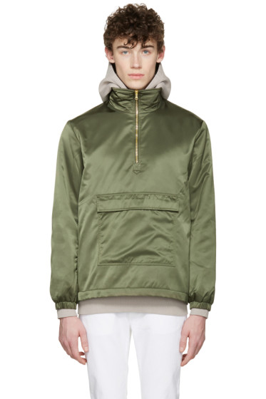 Aime Leon Dore - SSENSE Exclusive Green MA-1 Nylon Jacket