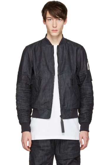 Raw Research - Indigo Denim Rackam Bomber Jacket