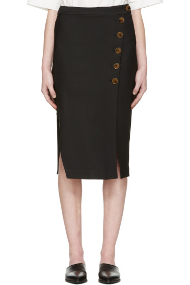 Khaite - ブラック ミリアム スカート